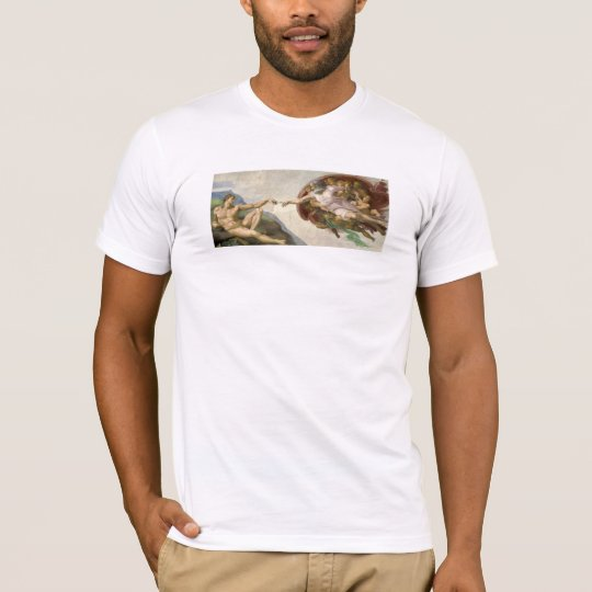 Creation of Adam - Painted by Michelangelo T-Shirt