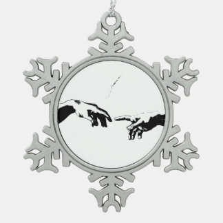 Creation of Adam Pewter Snowflake Decoration