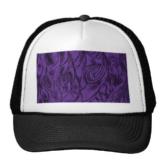 Creative Abstract Design Drawing Purple and Black Hats