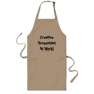 Creative Accountant At Work! Aprons