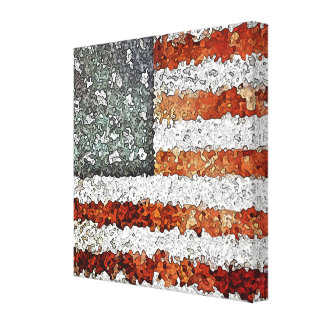 Creative American Flag Gallery Wrapped Canvas