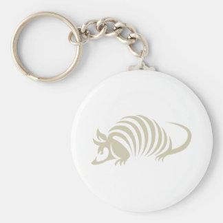 Creative Armadillo Illustration Key Ring