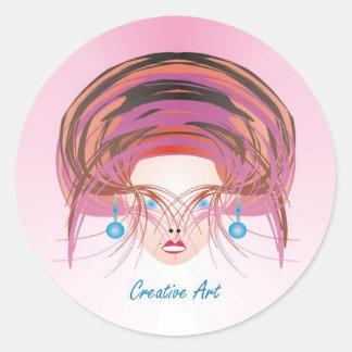 Creative Art 3 inch Round stickers
