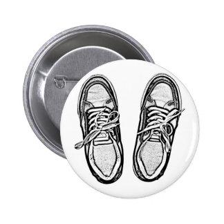 Creative Art shoes sneakers pencil art graphics bl 6 Cm Round Badge