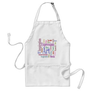 Creative Artist's Inspiration Word Art Aprons