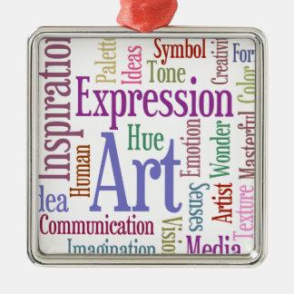 Creative Artist's Inspiration Word Art Christmas Ornament