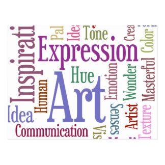 Creative Artist's Inspiration Word Art Post Card