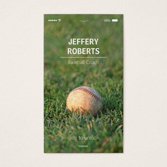 Creative Baseball Coach Baseball Trainer Business Card