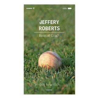 Creative Baseball Coach Baseball Trainer Pack Of Standard Business Cards