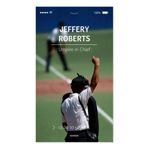 Creative Baseball Umpire Business Card Template