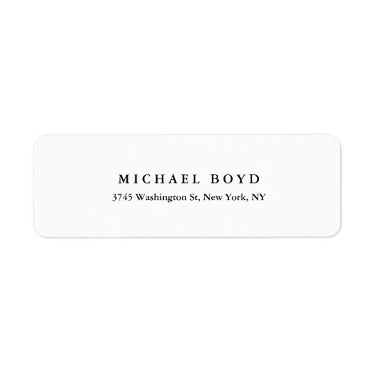 Creative Black & White Classical Professional Return Address Label