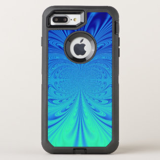creative blue abstract OtterBox defender iPhone 8 plus/7 plus case