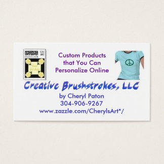 Creative Bruhstrokes Business Cards updated