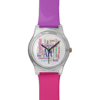 Creative Colors Artist's Inspiration Word Cloud Watch