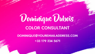 Colour consultant business cards business card printing zazzle uk creative colour consultant pink purple rainbow business card reheart Gallery