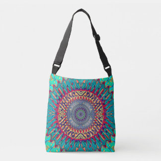 Creative Concentric Abstract Crossbody Bag