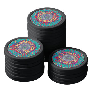 Creative Concentric Abstract Poker Chip Set