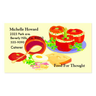 Creative Cooking Foodie Pack Of Standard Business Cards