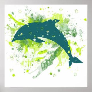 Creative Dolphin Design Print