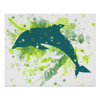 Creative Dolphin Design Posters