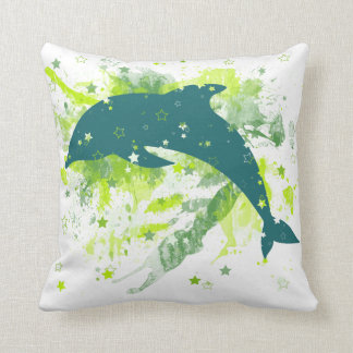Creative Dolphin Design Throw Cushion