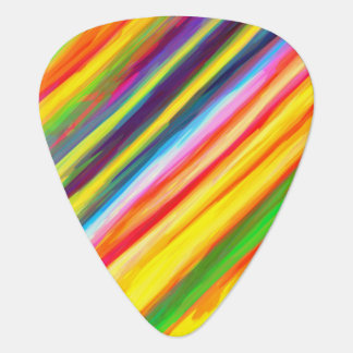Creative Dripping Paint Streaks Abstract Art Plectrum
