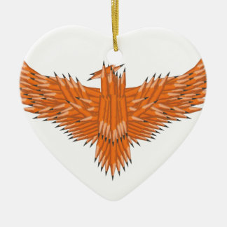 Creative Eagle Ceramic Heart Decoration