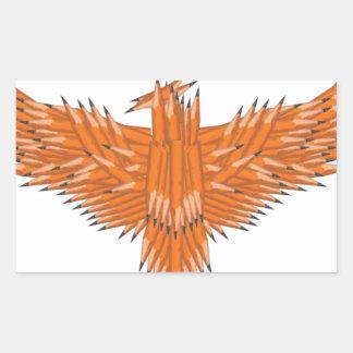Creative Eagle Rectangular Sticker