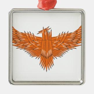 Creative Eagle Silver-Colored Square Decoration