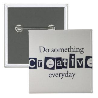 creative everyday 15 cm square badge
