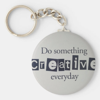 creative everyday basic round button key ring