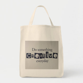 creative everyday grocery tote bag