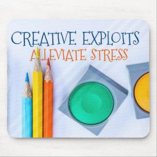 Creative Exploits Alleviate Stress Mouse Mat