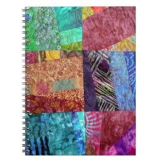 Creative Faux Batik Quilting Squares Notebooks