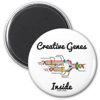 Creative Genes Inside (DNA Replication) 6 Cm Round Magnet