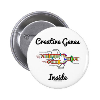 Creative Genes Inside (DNA Replication) Pinback Buttons