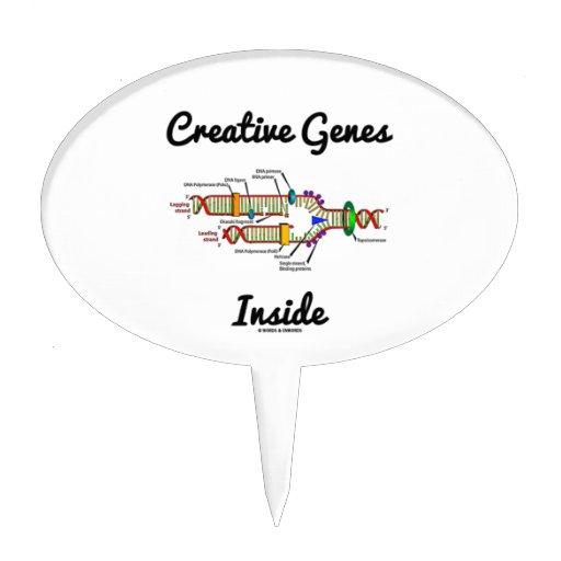 Creative Genes Inside (DNA Replication) Cake Pick