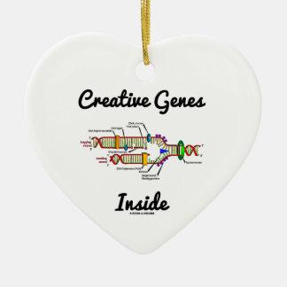 Creative Genes Inside (DNA Replication) Ceramic Heart Decoration