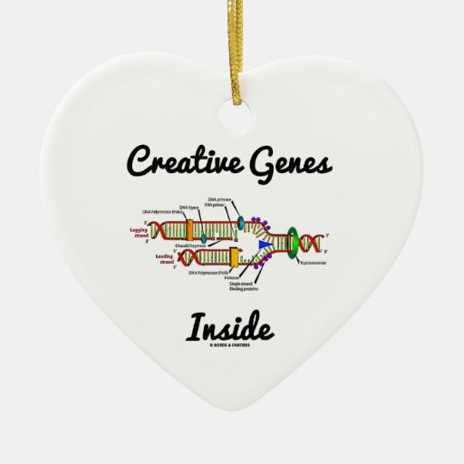 Creative Genes Inside (DNA Replication) Ornament