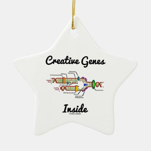 Creative Genes Inside (DNA Replication) Christmas Tree Ornament