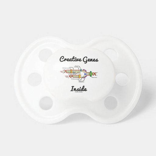 Creative Genes Inside (DNA Replication) Baby Pacifier