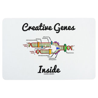 Creative Genes Inside (DNA Replication) Floor Mat