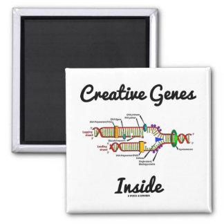 Creative Genes Inside (DNA Replication) Square Magnet