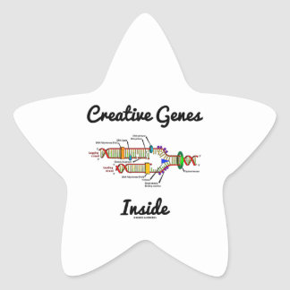 Creative Genes Inside (DNA Replication) Star Sticker