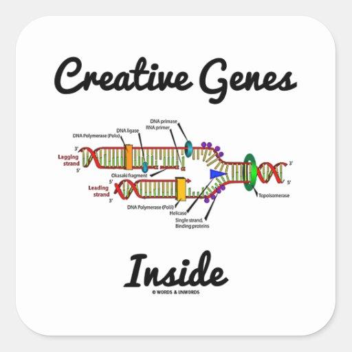 Creative Genes Inside (DNA Replication) Square Stickers