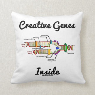 Creative Genes Inside (DNA Replication) Throw Pillow