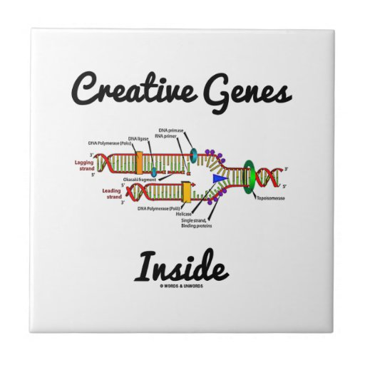 Creative Genes Inside (DNA Replication) Ceramic Tiles