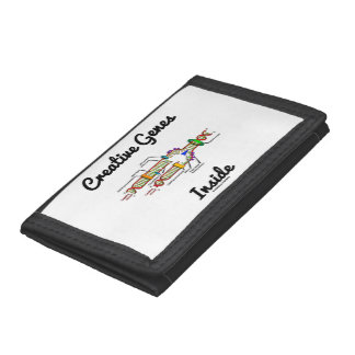 Creative Genes Inside (DNA Replication) Trifold Wallets