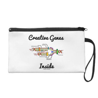 Creative Genes Inside (DNA Replication) Wristlet Clutch