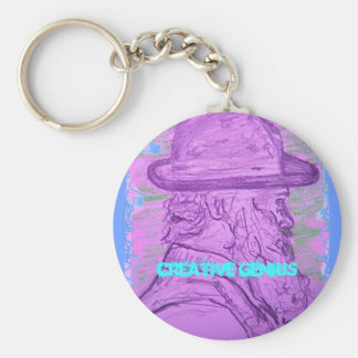 Creative Genius Basic Round Button Key Ring